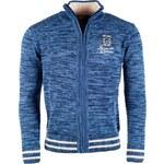 Pánský svetr na zip VOLCANO Angro - Denim