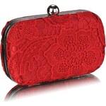 Dámské psaníčko LS Fashion (LSE00110) - červená