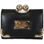 HT Fashion Černá retro peněženka hp003 černá