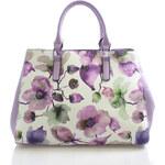 Fialová květovaná kabelka Delami D597 fialová