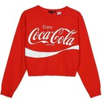 "Tally Weijl Rotes, kurzes Sweatshirt mit ""Coca Cola""-Print"