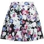 Tally Weijl Black Floral Skater Skirt