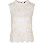 Topshop Lace Front Shell Top