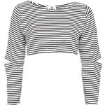 Topshop **Mono Crop Top by The Ragged Priest