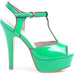 VERA BLUM Hezké zelené sandály s otevřenou špičkou - VB33036V