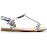 FGM PARIS Neobyčejné stříbrné sandály - OK-18S