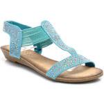 DANIC Výrazné modré sandály - T1463-12BL