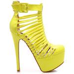SERGIO TODZI Neuvěřitelně sexy žluté sandály - K037Y
