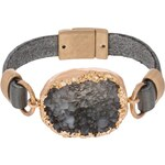 sweet deluxe ANTJA Armband matt gold coloured/grey/black