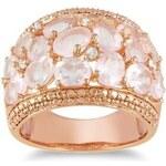 Extravagantní prsten pozlacený růžovým zlatem