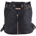 Černý dámský batoh/taška s ozdobným zipem Mariamare