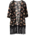 C&A Damen Kimono mit Fransen in schwarz von Clockhouse