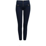Tally Weijl Navy Skinny Pants with Zip Detail