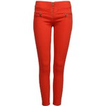 Tally Weijl Red Skinny Pants with Zip Detail