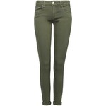 Tally Weijl Khaki Cropped Skinny Pants with Low Rise