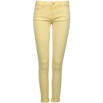 Tally Weijl Yellow Cropped Skinny Pants with Low Rise