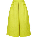 Topshop Textured Box Pleat Midi Skirt