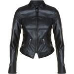 Tally Weijl Black Leather-Like Biker Jacket