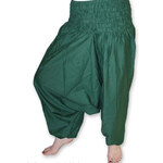 I-Moda Zelené kalhoty šaravary Uni(S-L)