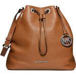 Hnědá kožená kabelka vak Michael Kors Jules luggage