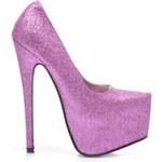 Couture Lodičky na platformě fialový třpyt Velikost: 37/24 cm