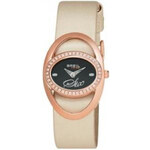 BREIL TRIBE SATURN 2H LADY IP ROSE GOLD PINK / BLACK STRAP TW0284