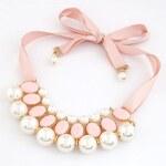 BAGISIMO Dámský náhrdelník na zavazování PINK