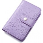 NUCELLE dámská kožená peněženka fialová