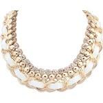 FJ Zlatý náhrdelník s bílým zdobením