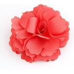 FJ Červená sponka ve tvaru kytky