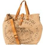 CAMPOMAGGI Shopper, Canvas, Leder-Details, Print
