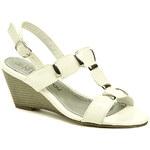 Cortina.be Dámská letní obuv 728551 bílé sandály