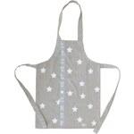 Bastion collections - Dětská zástěry natural/bílé hvězdy, Little Chef(AN-AP-LITTLECHEF N)