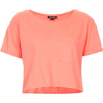 Topshop Roll Pocket Crop Tee