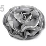 Stoklasa Růže do vlasů Ø 90mm LILY (1 ks) - 5 šedá