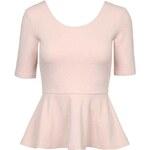 Tally Weijl Pink 3/4 Sleeve Peplum Top