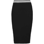 Tally Weijl Black Knitted Midi Pencil Skirt