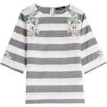 Steffen Schraut Roxy Embroidered Cotton Top