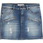 Pierre Balmain Distressed Denim Skirt