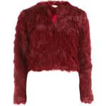 Vínový krátký kabátek Leo DP
