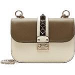 Valentino Lock Leather Shoulder Bag