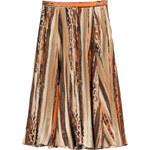 Salvatore Ferragamo Printed Silk Midi Skirt