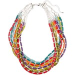 Marks and Spencer Tube & Bauble Bead Multi-Strand Necklace