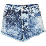 Topshop MOTO Brooke Acid Denim Hotpants