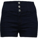 Tally Weijl Dark Blue High Waisted Denim Shorts