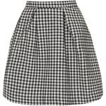 Topshop Gingham Box Pleat Mini Skirt