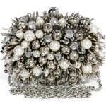 ALDO Arkair Pearl & Crystal Box Clutch Bag