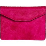 Jas M.B Leather Faux Pony Clutch Bag
