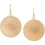 Esprit relief earrings in yellow-gold metal