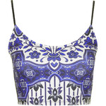 Topshop Folk Print Crop Top